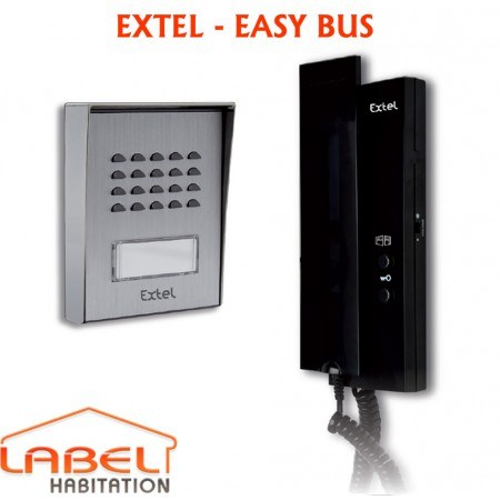 interphone 2 fils extel easy bus interphone extel. Black Bedroom Furniture Sets. Home Design Ideas