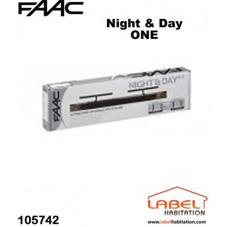 Motorisation volet 2 battants filaire couleur marron FAAC Night ONE Day - 105742