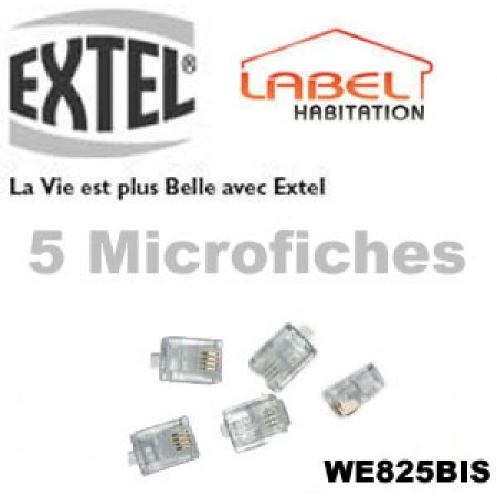 Micro-fiches RJ45 EXTEL - WE825BIS
