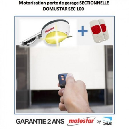 Motorisation porte de garage sectionnelle - MOTOSTAR by Came - Domustar SEC 100