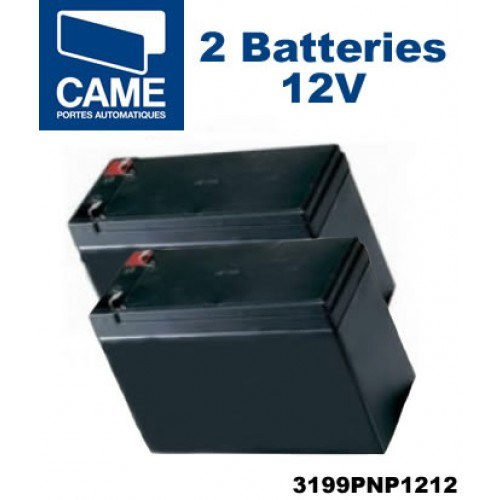 Paire de batteries de secours 12V - 1.2Ah CAME 3199PNP1212
