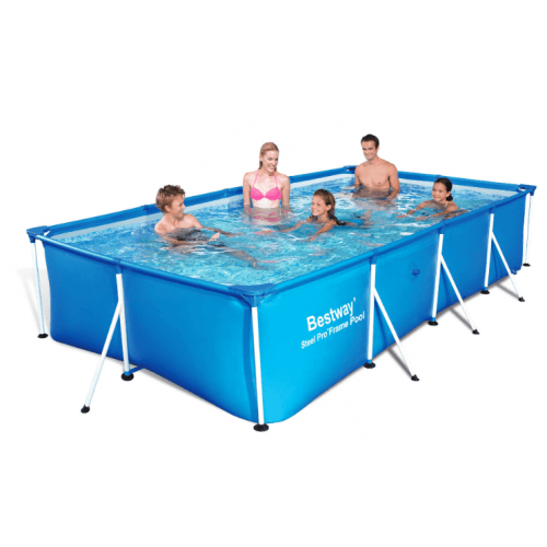 Piscine tubulaire rectangulaire 2,39 x 1,50 x 0,58 m - sans filtration - BESTWAY - 56402