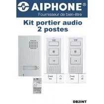 Interphone audio filaire 2 combinés main libre AIPHONE - DB2INT- 118724