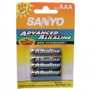 Piles alcalines AAA - SANYO - 1.5 Volts Pack de 4