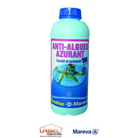 traitement anti algue piscine – MAREVA – Algicide azurant Revablue 1L
