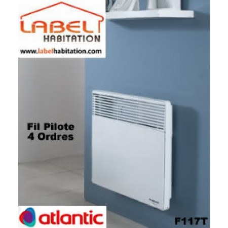 convecteur electrique fil pilote 4 ordres atlantic f117t achat radiateur lectrique. Black Bedroom Furniture Sets. Home Design Ideas