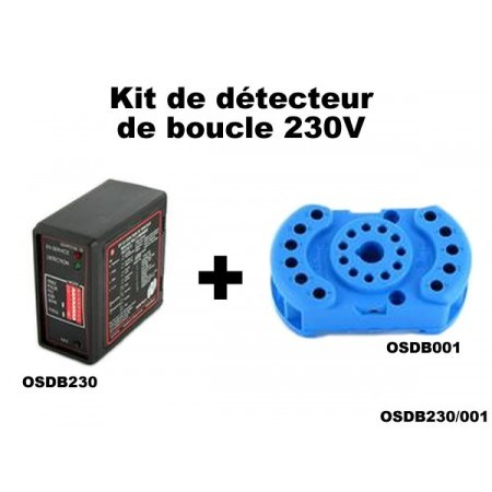 kit de d tecteur de boucle au sol 230v osdb230 001 motorisation. Black Bedroom Furniture Sets. Home Design Ideas