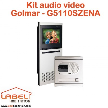 Kit interphone audio video mains libre STADIO Plus GOLMAR - G5110SZENA