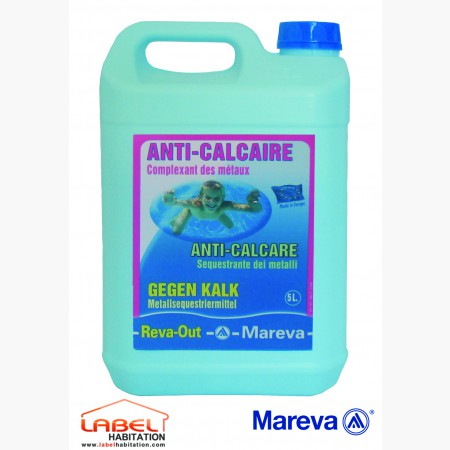 traitement clarifiant piscine – MAREVA – Anti-Calcaire Reva-Out  5L