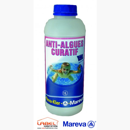traitement anti algue piscine – MAREVA – Algicide Curatif Reva-Kler 1L