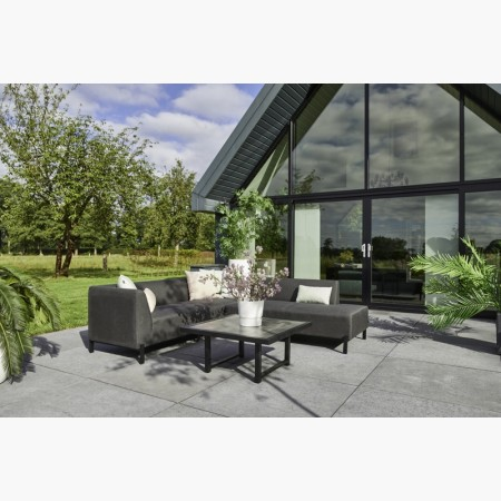 Canapé d'angle  All weather + table basse DION SET CORNER