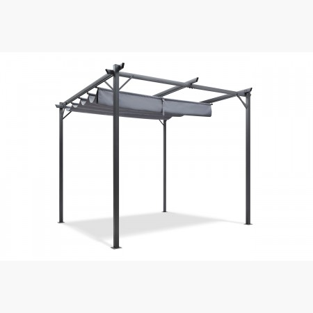 Pergola krabi toit retractable 9m² anthracite
