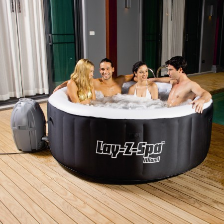 Lay-z-Spa Rond - Miami  Gonflable – BESTWAY – 54123