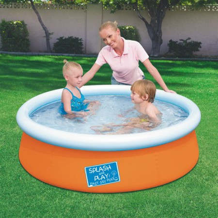 Piscine enfant orange 152x38 cm - BESTWAY -57241BR