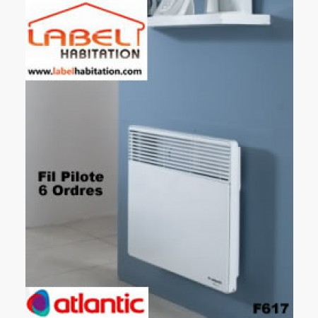 convecteur electrique fil pilote 6 ordres atlantic f617 achat radiateur lectrique. Black Bedroom Furniture Sets. Home Design Ideas