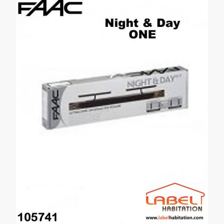 Motorisation volet 2 battants filaire couleur blanche FAAC Night ONE Day - 105741