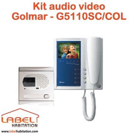 Kit interphone audio video couleur STADIO Plus GOLMAR - G5110SC / COL