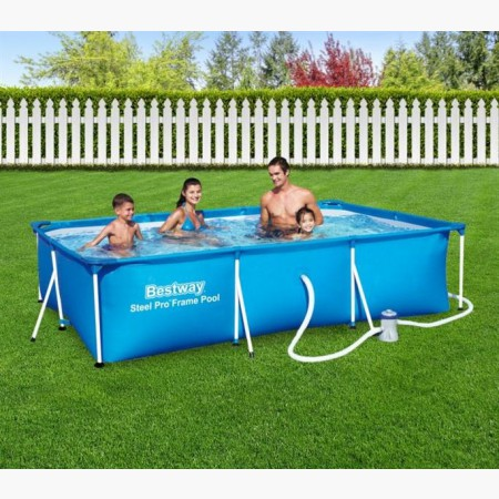 Piscine tubulaire rectangulaire filtre for Piscine bestway tubulaire