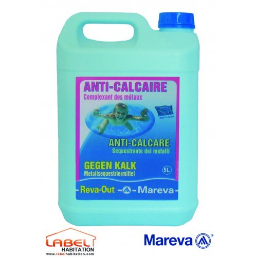 Anti calcaire traitement piscine reva out 5l mareva 150052 for Produit anti calcaire piscine