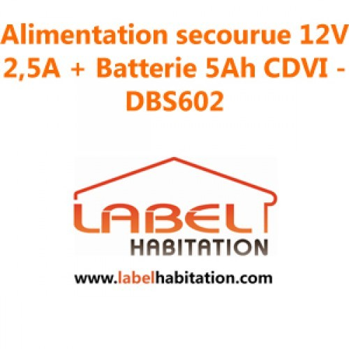 Alimentation secourue 12V 2,5A + Batterie 5Ah CDVI - DBS602