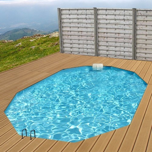 Piscine bois maxi premium octogonale de x x 1 for Piscine a enterrer