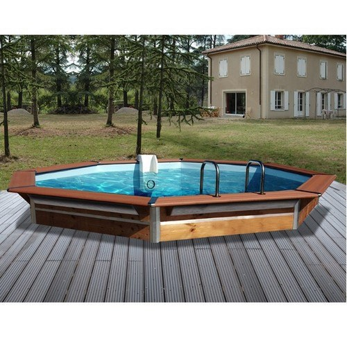 Piscine bois maxi premium x 1 47 m semi enterrer for Piscine a enterrer