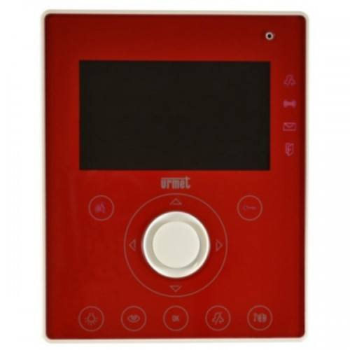 Façade rouge colorado pour moniteur AIKO interphone NOTE - URMET 1722/76