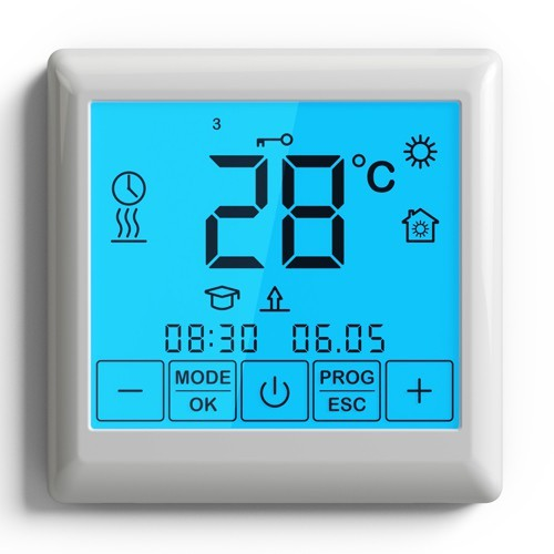 Thermostat digital programmable tactile plancher chauffant for Thermostat piscine