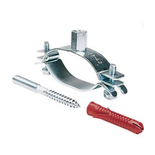 Set de fixation murale pour Twin tube inox ou cuivre Atlantic - Solério Optimum