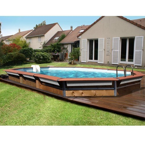 Piscine bois maxi premium octogonale de x x 1 47 for Piscine a enterrer