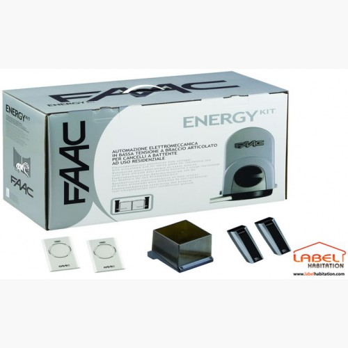 Motorisation portail 2 battants faac energy kit 24v for Faac eco kit