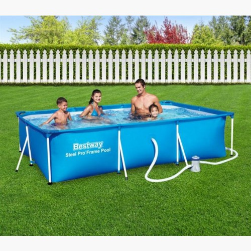 Piscine tubulaire rectangulaire filtre for Piscine rectangulaire bestway