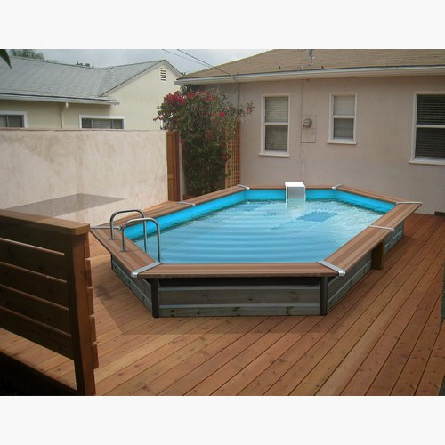Piscine bois maxi premium hexagonale de x x 1 47 for Piscine bois a enterrer