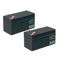 Batteries 12V de secours lot de 2 1.2Ah CAME 3199PNP1212