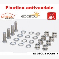 Kit de visserie anti-vandale BFT - Ecosol Security - Pour Ecosol