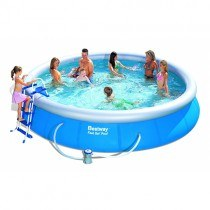 Piscine Ronde 4,57 x 0,91 m Fast Set Pools + filtre à cartouche- BESTWAY - 57280