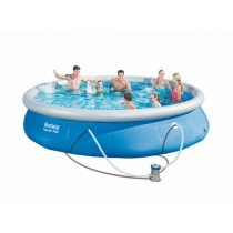 Piscine Ronde 4.57 x 0,84 m Fast Set Pools BESTWAY + filtre à cartouche - 57313