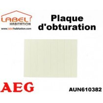 Plaque d'obturation - AEG