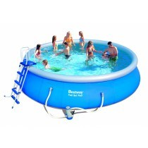 Piscine ronde 5,49 x 1,22 m Fast Set Pools + filtre à cartouche - BESTWAY - 57291
