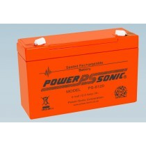 Batterie 6V 12.0AH - POWER SONIC PS-6120 Série VO Flamme Retardante