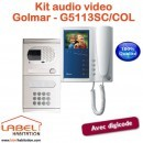 Interphone audio video couleur STADIO Plus GOLMAR G5113SC/COL